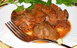 Печень тушеная в томатном соку (Тжвжик)