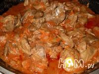 Приготовление печени тушеной в томатном соку: шаг 8