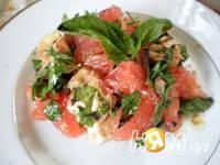 Приготовление куриного салата с грейфрутом: шаг 5