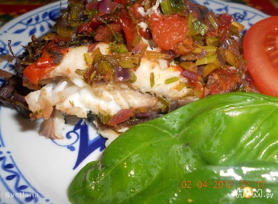 Рецепт Камбала запеченная по - сицилийски