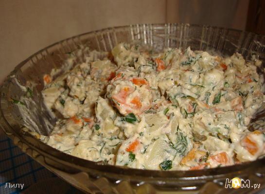 Турецкий салат с морковью и картофелем