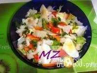 Приготовление салата весеннего: шаг 5