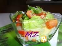 Приготовление салата весеннего: шаг 6