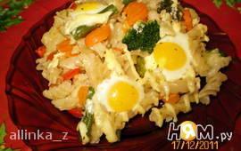 Запеканка с перепелиными яйцами
