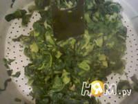 Приготовление зеленого салата: шаг 1