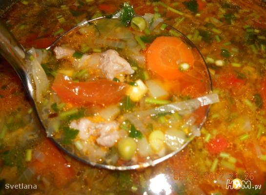 Суп овощной по - испански