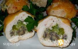 Куриные маффины с брокколи и грибами