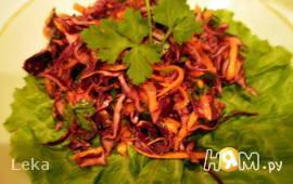 Турецкий салат из красной капусты