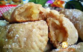 Ореховое печенье с яблочной начинкой