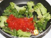 Приготовление белкового омлета с брокколи и фасолью: шаг 4