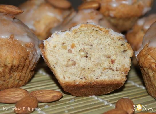 Рецепт Тминные кексы с лимонной глазурью