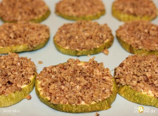 Рецепт Кабачки запеченные с сыром и орехами