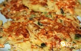 Драники с копченым сыром и луком