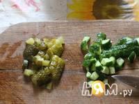 Приготовление салата Зелёный рай: шаг 4