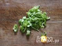 Приготовление салата Зелёный рай: шаг 5