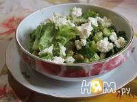 Приготовление салата Зелёный рай: шаг 7