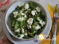 Приготовление салата Зелёный рай: шаг 8