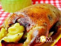 Приготовление утки с яблоками, запеченной в рукаве: шаг 4