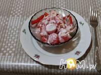 Приготовление красного креветочно-овощного салат: шаг 8