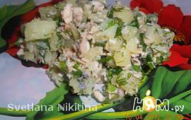 Салат с горбушей и картофелем