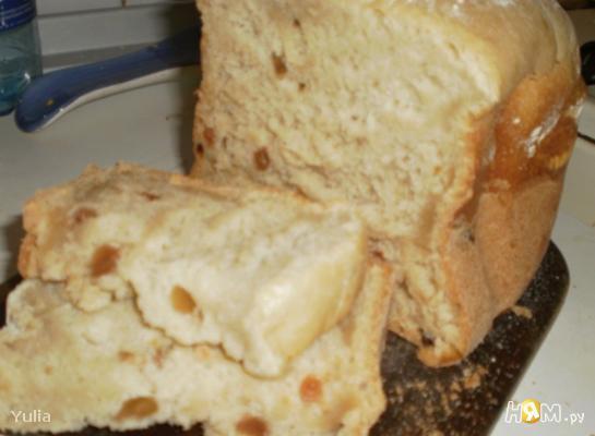 Сладкий хлеб с изюмом из хлебопечки