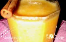 Смузи с бананом и мандарином