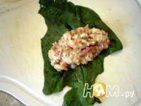 Приготовление голубцов в шпинате: шаг 6