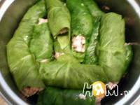 Приготовление голубцов в шпинате: шаг 8