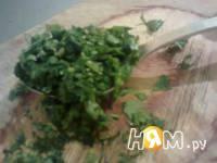 Приготовление салата из огурцов с мятой: шаг 2