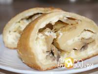 Приготовление картофельного рулета с грибами: шаг 10