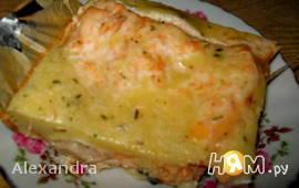 Пирог из сёмги заливной