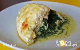 Запеканка из рыбы и шпината