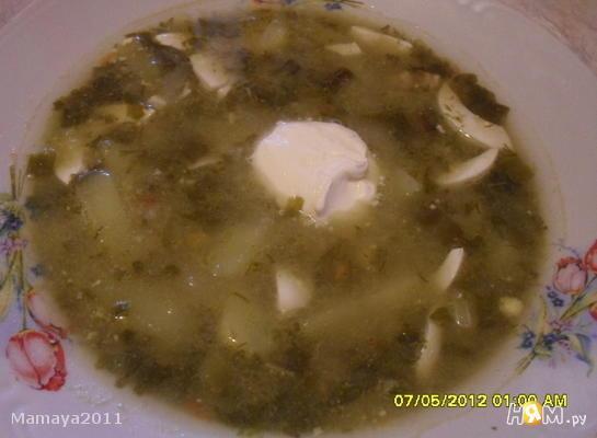 Рецепт Борщ со щавелем и яйцом