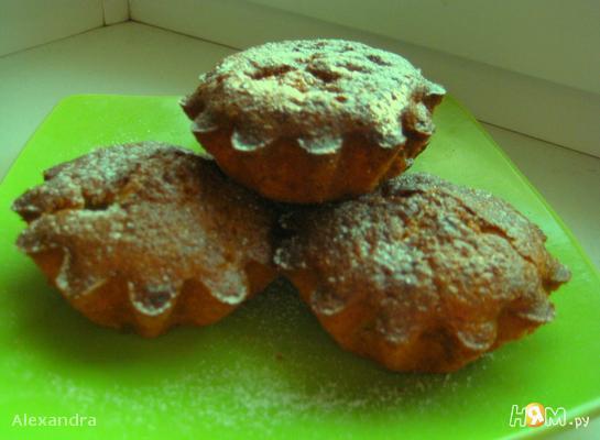 Творожные кексы с бананами и киви