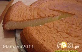 Бисквитный пирог с лимоном