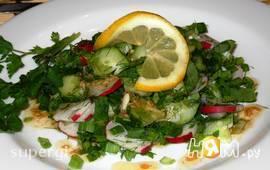 Зеленый салат со щавелем