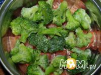 Приготовление семги с голубым сыром и брокколи: шаг 2