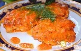 Рубленные куриные котлеты в соусе