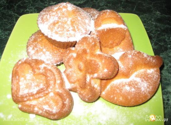 Рецепт Кексы ванильные на ряженке (без яиц)