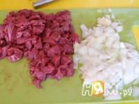 Приготовление овощной запеканки с мясом и макаронами: шаг 2