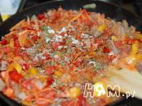 Приготовление овощной запеканки с мясом и макаронами: шаг 8