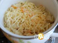 Приготовление овощной запеканки с мясом и макаронами: шаг 9