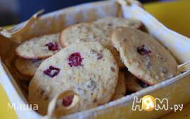 Апельсиновое печенье с  орехами и клюквой