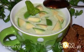 Холодный крем-суп с авокадо на кефире