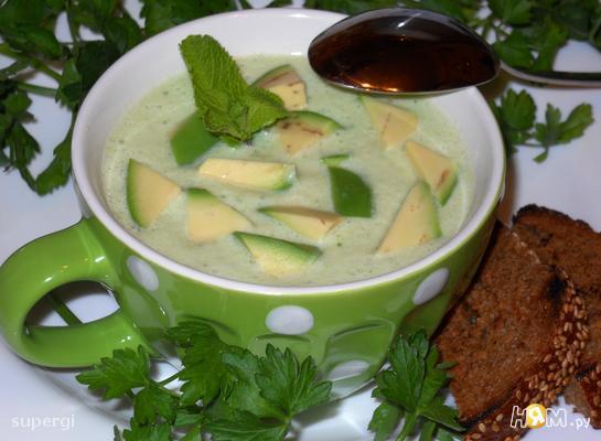 Рецепт Холодный крем-суп с авокадо на кефире