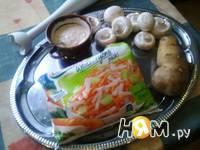 Приготовление крем-супа из шампиньонов : шаг 1
