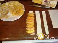 Приготовление слоеных яблочных розочек: шаг 6