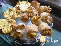 Приготовление слоеных яблочных розочек: шаг 10