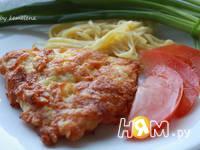 Приготовление куриной грудки в яично-сырной корочке: шаг 8
