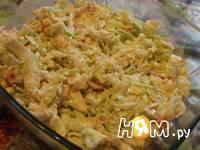 Приготовление капустного салата: шаг 4